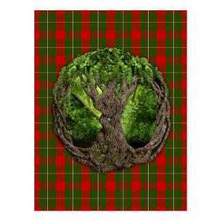 Celtic Tree Of Life And Clan MacGregor Tartan Postcard
