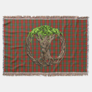 Celtic Tree Of Life And Clan MacLean Of Duart Throw Blanket