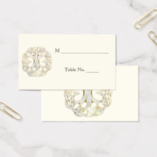 Celtic Tree of Life Gold Wedding Place Cards