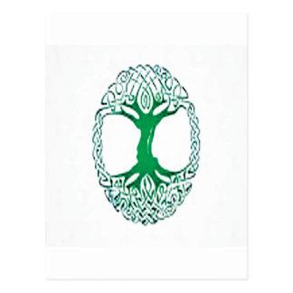 celtic tree of life postcard