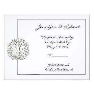 Celtic Tree of Life Response Card Custom Invites