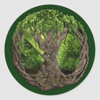 Celtic Tree Of Life Round Sticker