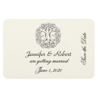Celtic Tree of Life Save the Date Flexible Magnets