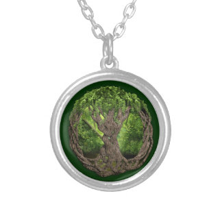 Celtic Tree Of Life Silver Plated Necklace