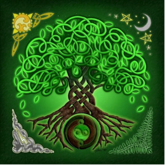 celtic tree of life standing photo sculpture