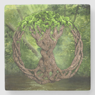 Celtic Tree Of Life Stone Coaster