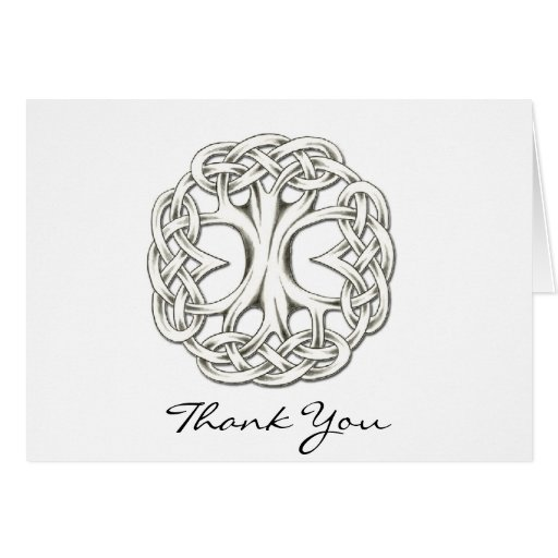 Celtic Tree of Life Thank You Cards