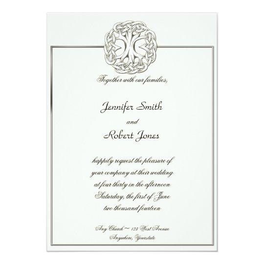 Celtic Tree of Life Wedding Invitation