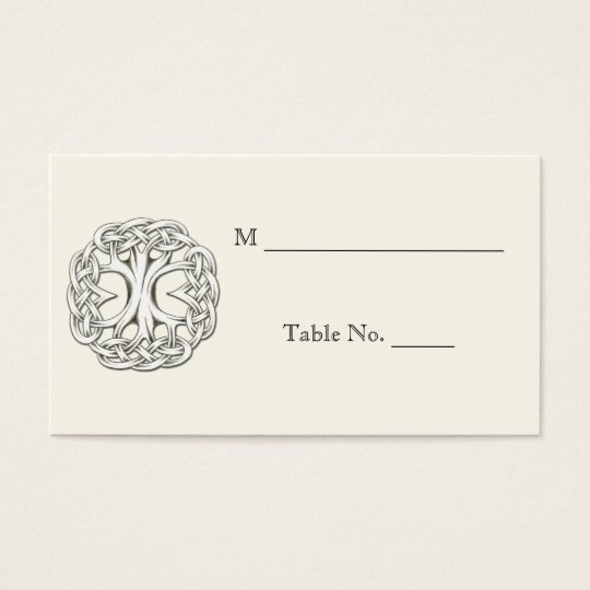 Celtic Tree of Life Wedding Place Cards