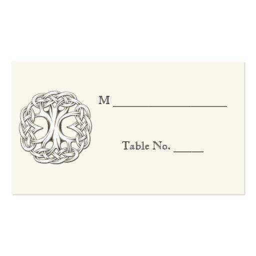Celtic Tree of Life Wedding Place Cards Business Card