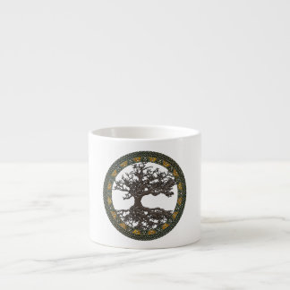 Celtic Tree of Life Yggdrasil Espresso Mugs