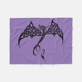 Celtic Tribal Dragon Fleece Blanket