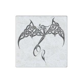 Celtic Tribal Dragon Stone Magnet