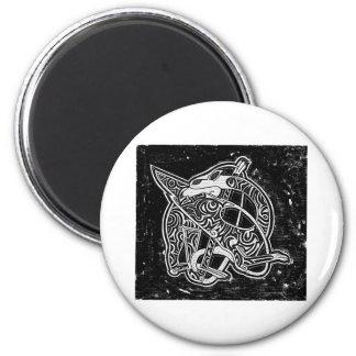 Celtic Tribal Dragon 6 Cm Round Magnet