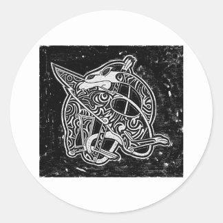 Celtic Tribal Dragon Round Sticker