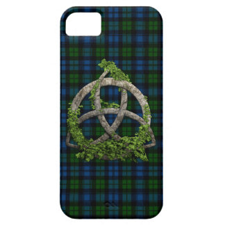 Celtic Trinity Knot And Campbell Military Tartan Case For The iPhone 5