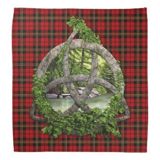 Celtic Trinity Knot And Clan Brodie Tartan Bandana
