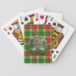 Celtic Trinity Knot And Clan Buchanan Tartan Poker Deck