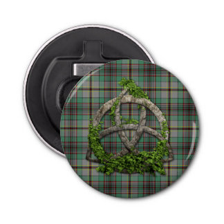 Celtic Trinity Knot And Clan Craig Tartan Bottle Opener