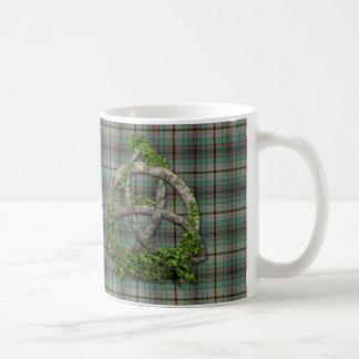 Celtic Trinity Knot And Clan Craig Tartan Coffee Mug