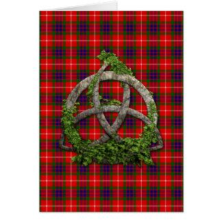 Celtic Trinity Knot And Clan Fraser Tartan Card