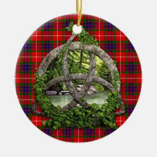 Celtic Trinity Knot And Clan Fraser Tartan Christmas Ornament