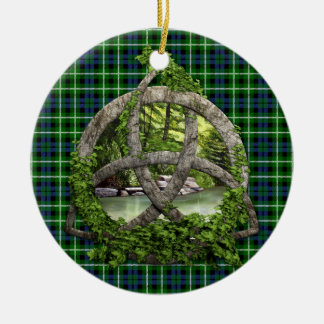 Celtic Trinity Knot And Clan Graham Tartan Christmas Ornament