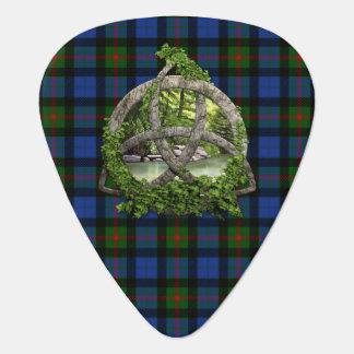 Celtic Trinity Knot And Clan Gunn Tartan Guitar Pick