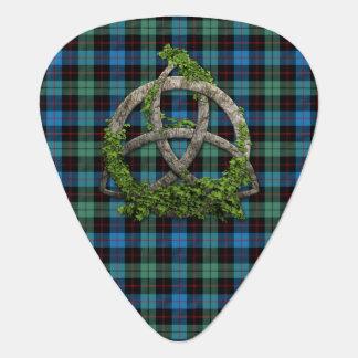 Celtic Trinity Knot And Clan Guthrie Tartan Plectrum
