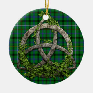 Celtic Trinity Knot And Clan Henderson Tartan Christmas Ornament