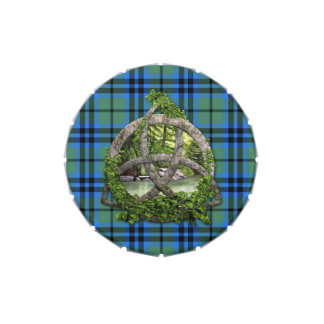 Celtic Trinity Knot And Clan Keith Tartan Jelly Belly Candy Tin