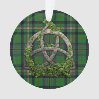 Celtic Trinity Knot And Clan Kennedy Tartan Ornament