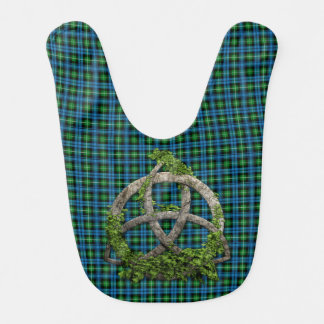 Celtic Trinity Knot And Clan Lamont Tartan Baby Bibs