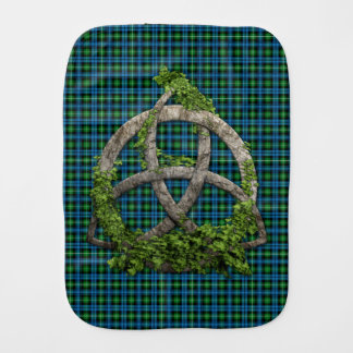 Celtic Trinity Knot And Clan Lamont Tartan Burp Cloths
