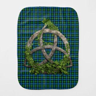 Celtic Trinity Knot And Clan Lamont Tartan Burp Cloths