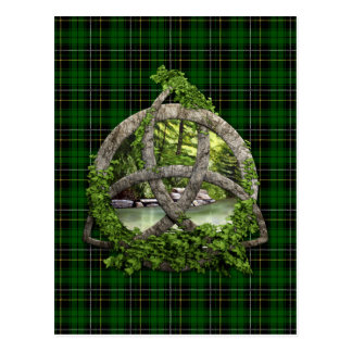 Celtic Trinity Knot And Clan MacAlpine Tartan Postcard
