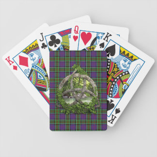 Celtic Trinity Knot And Clan MacDonald Of Ranald Bicycle Playing Cards
