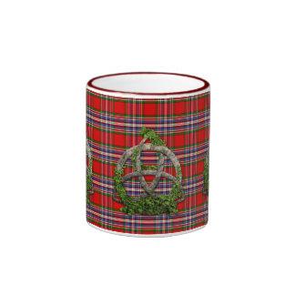 Celtic Trinity Knot And Clan MacFarlane Tartan Coffee Mugs