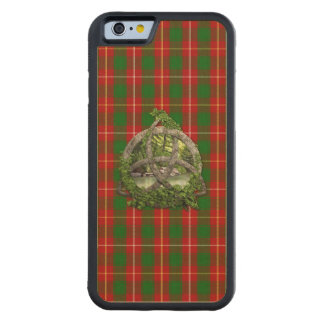 Celtic Trinity Knot And Clan MacFie Tartan Carved Maple iPhone 6 Bumper Case
