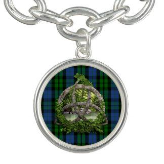 Celtic Trinity Knot And Clan MacKay Tartan