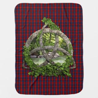Celtic Trinity Knot And Clan MacLachlan Tartan Baby Blanket