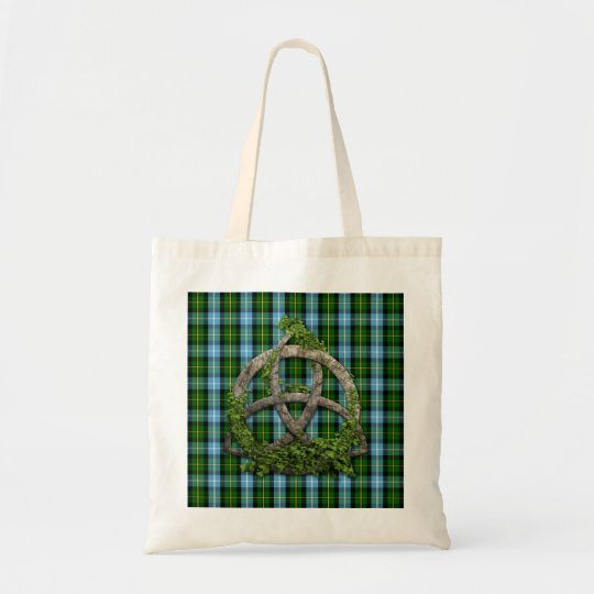 Celtic Trinity Knot And Clan MacNeil Tartan Tote