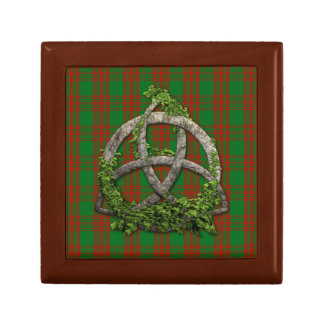 Celtic Trinity Knot And Clan Menzies Tartan Gift Box