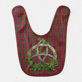 Celtic Trinity Knot And Clan Robertson Tartan Bib