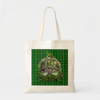 Celtic Trinity Knot And Clan Ross Tartan Budget Tote Bag
