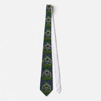 Celtic Trinity Knot And Clan Walker Tartan Tie