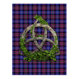 Celtic Trinity Knot Pride Of Scotland Tartan Postcard