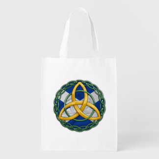 Celtic Trinity Knot Reusable Grocery Bag