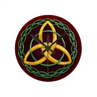 Celtic Trinity Knot Round Clock