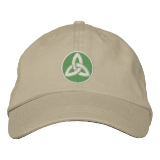 Celtic Trinity Knot Up Embroidered Baseball Cap